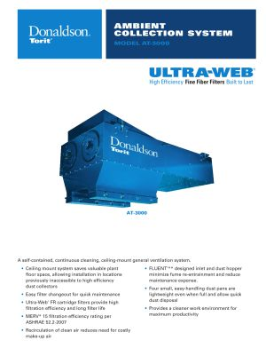AT-3000 Ambient Air Weld Fume Collector Brochure Download | AIRPLUS Industrial