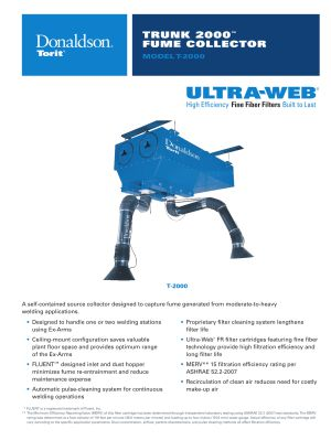 Trunk 2000 Weld Fume Collector Brochure Download | AIRPLUS Industrial