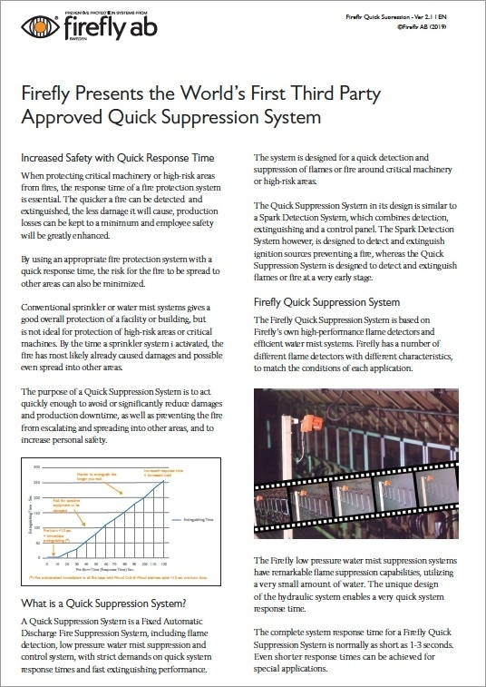 Firefly Quick Supression System Brochure Download Icon | AIRPLUS Industrial