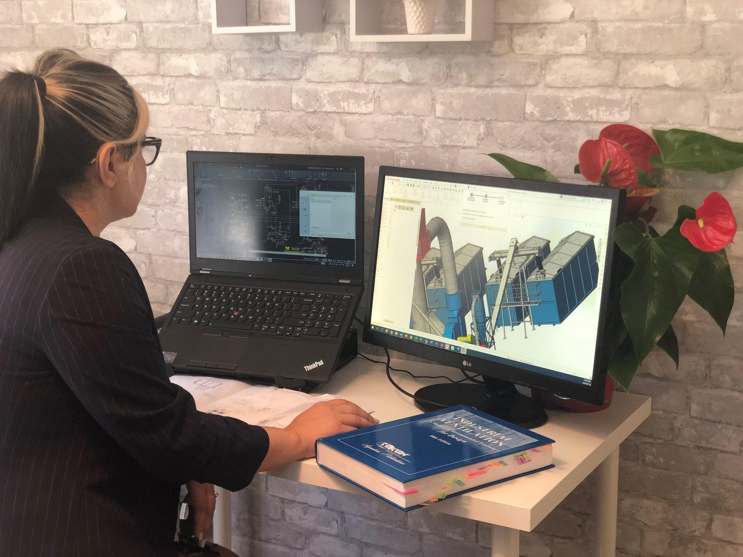 In-house engineer working in SolidWorks - Engineering Design | AIRPLUS Industrial