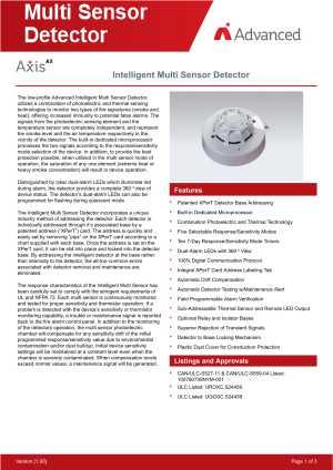 Axis AX Intelligent Multi Sensor Detector download brochure icon | AIRPLUS Industrial