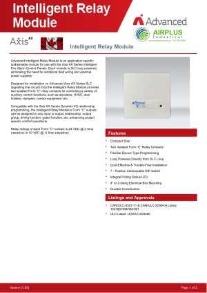 Intelligent Relay Module download brochure icon | AIRPLUS Industrial