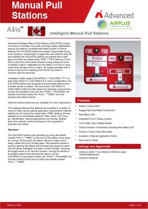 Manual Pull Station Download Brochure Icon | AIRPLUS Industrial