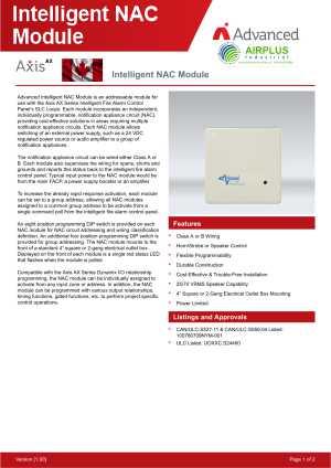 Intelligent NAC Module download brochure icon | AIRPLUS Industrial