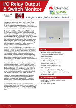 Intelligent I/O Relay Output & Switch Monitor download brochure icon | AIRPLUS Industrial