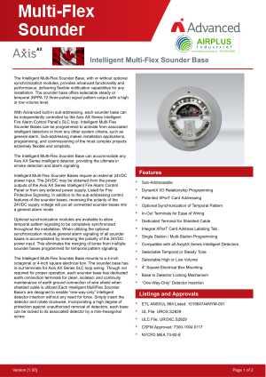 Multi-Flex Sounder Base download brochure icon | AIRPLUS Industrial