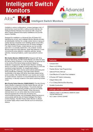 Intelligent Switch Monitors download brochure icon | AIRPLUS Industrial