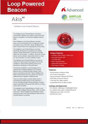 Loop Powered Beacon download brochure icon | AIRPLUS Industrial