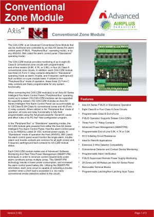 Axis AX Conventional Zone Module Brochure Download Icon | AIRPLUS Industrial