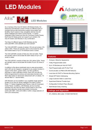 Axis AX LED Modules Brochure Download Icon | AIRPLUS Industrial