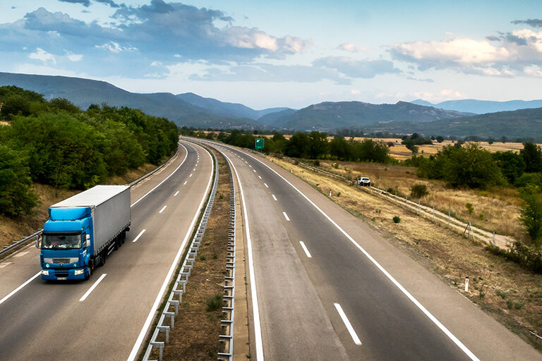 Tractor Trailer on Highway Fogmaker Systems for Transportation & Heavy Equipment | AIRPLUS Industrial