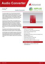 Click to download brochure for Axis Audio Converter
