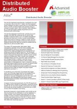 Click to download brochure for Axis Distributed Audio Booster