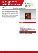 Click to download brochure for Axis Microphone w/ Enclosure