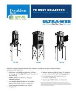 Donaldson TD Series dust collectors brochure download icon   AIRPLUS Industrial