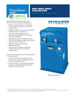 Donaldson Bin Vent dust collector brochure download icon | AIRPLUS Industrial