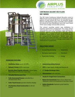 Continuous Flow solvent recyclers brochure download-icon | AIRPLUS Industrial