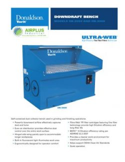 Donaldson Downdraft Bench brochure download icon | AIRPLUS Industrial