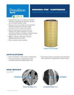 Donaldson Endura-Tek Cartridge Filter brochure download icon   AIRPLUS Industrial