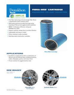 Donaldson Fibra Web Cartridge Filter brochure download icon | AIRPLUS Industrial