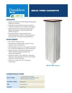 Donaldson Helix Tube Cassette Filter datasheet download icon   AIRPLUS Industrial