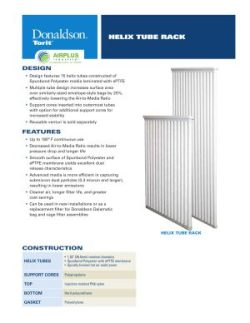 Donaldson Helix Tube Rack Filter datasheet download icon   AIRPLUS Industrial