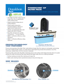 PowerCore CP Series filter pack brochure download icon | AIRPLUS Industrial