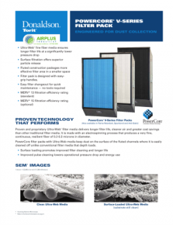 PowerCore V Series filter pack brochure download icon | AIRPLUS Industrial