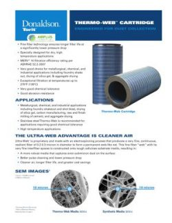Donaldson Thermo Web Cartridge Filter brochure download icon | AIRPLUS Industrial