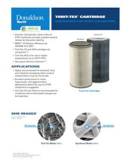 Donaldson Torit-Tex Specialty Cartridge Filter brochure download icon | AIRPLUS Industrial