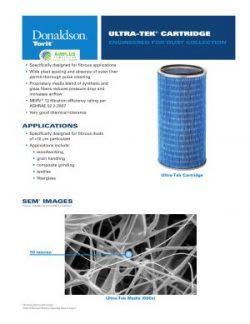 Donaldson Ultra-Tek Cartridge Filter brochure download icon | AIRPLUS Industrial