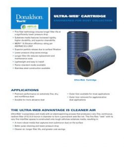 Donaldson Ultra-Web dust collector filter brochure download icon   AIRPLUS Industrial