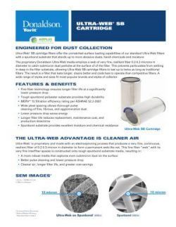 Donaldson Ultra-Web SB dust collector filter brochure download icon | AIRPLUS Industrial